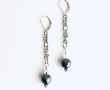 Construction Earrings Chain w Hematite 1