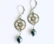 Construction Earrings Gears w Hematite 1