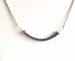 Nut Screw Shape Hemate Necklace Sterling Silver 3