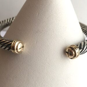 Bangle Twisted wire Sterling-18K-womens #2