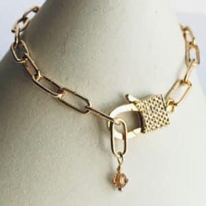 Paper Clip Bracelet w Lock Clasp 1